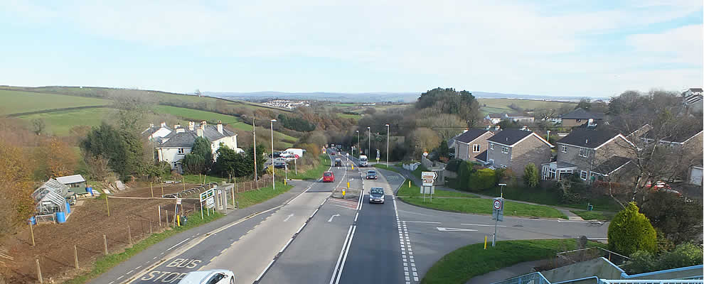 The A38 through Landrake