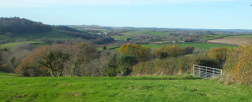 Views over the Parish of Landrake with St Erney